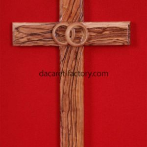 Wedding Olive Wood Cross-0