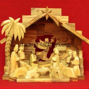 Angel Tradional Olive Wood Nativity Set-0