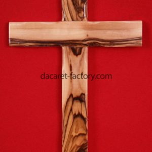 Plain Latin Olive Wood Cross-0