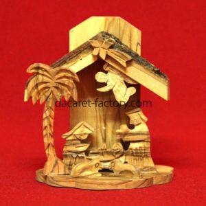 Shell Olive Wood Nativity Set-0