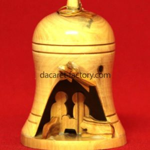 Small Bell olive Wood Nativity Set-0