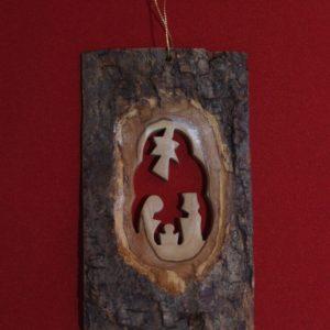 Bark Olive Wood Ornament-0